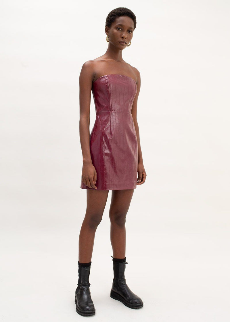 Herla Corsage Dress by ROTATE in Zinfandel Dress Rotate
