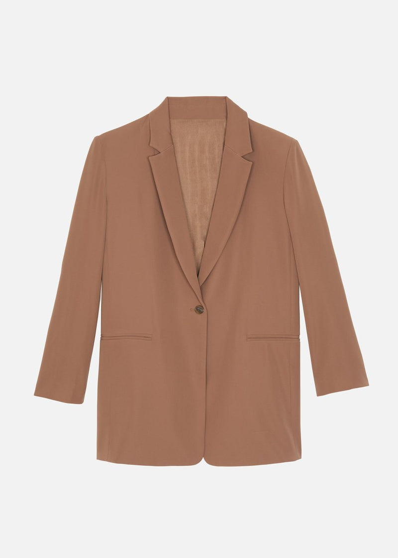 Isla Single Button Blazer - Tawney Blazer The Frankie Shop