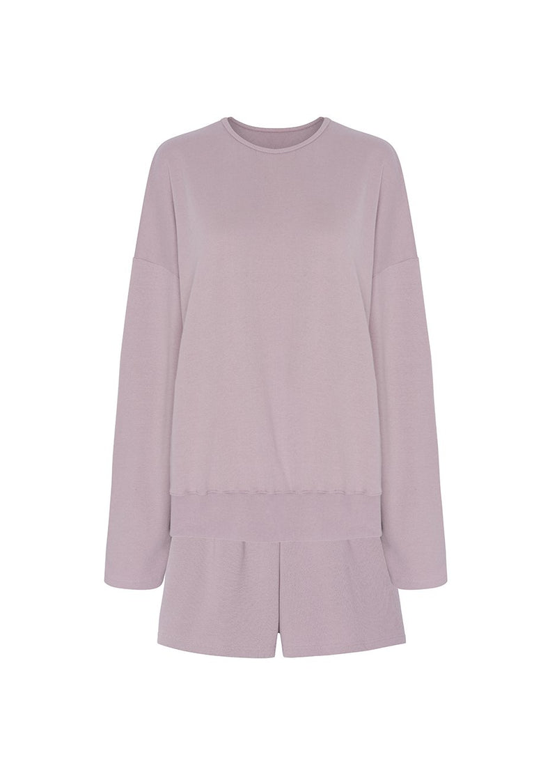 Jaimie Cotton Top and Shorts Set in Orchid Set The Frankie Shop