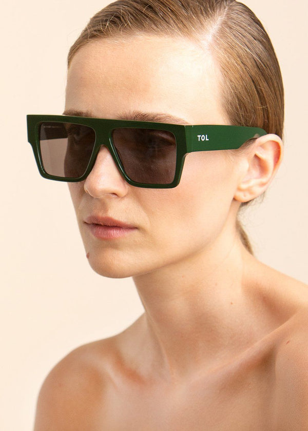 Lazer Sunglasses by TOL Eyewear in Lodge Green Sunglasses TOL Eyewear