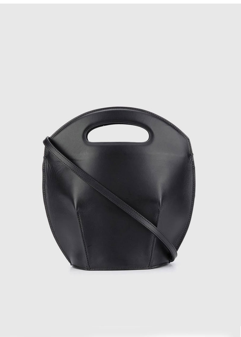 Leather Bucket Bag by Low Classic in Black