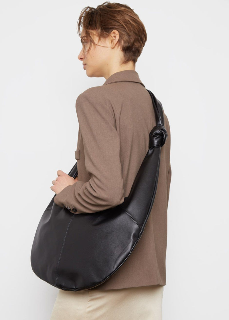 Leather Hobo Bag- Black Bag The Able