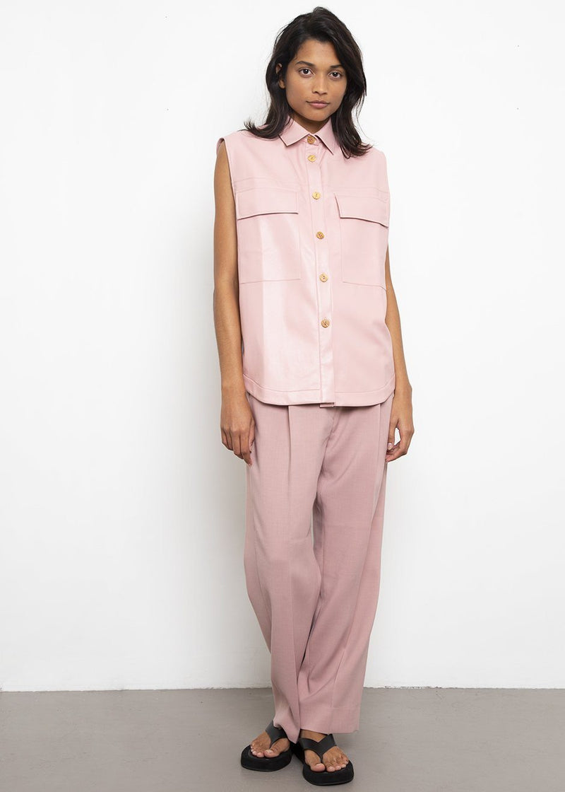 Leather Shirt by Aeron- Pink Shirt Aeron