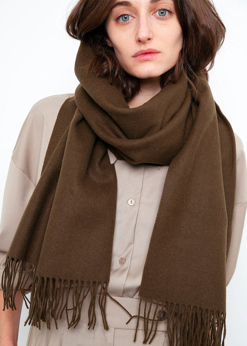 Loden Brown Wool Scarf Scarf Come And Get