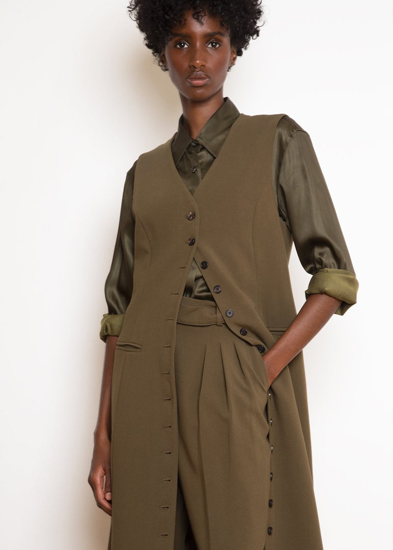 Longline Vest Dress in Cardamom Coat The Frankie Shop