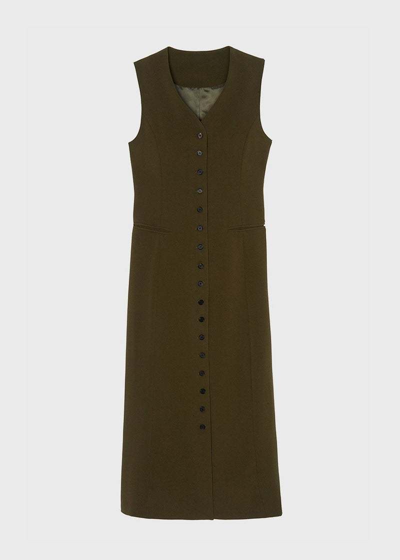 Longline Vest Dress in Cardamom Dress The Frankie Shop
