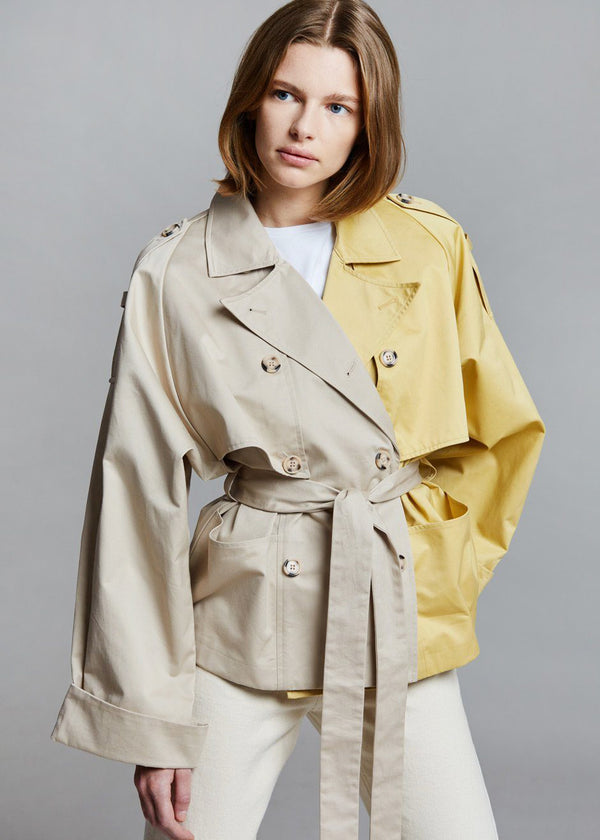 Mai Short Trench Coat by Gestuz in Pure Cashmere