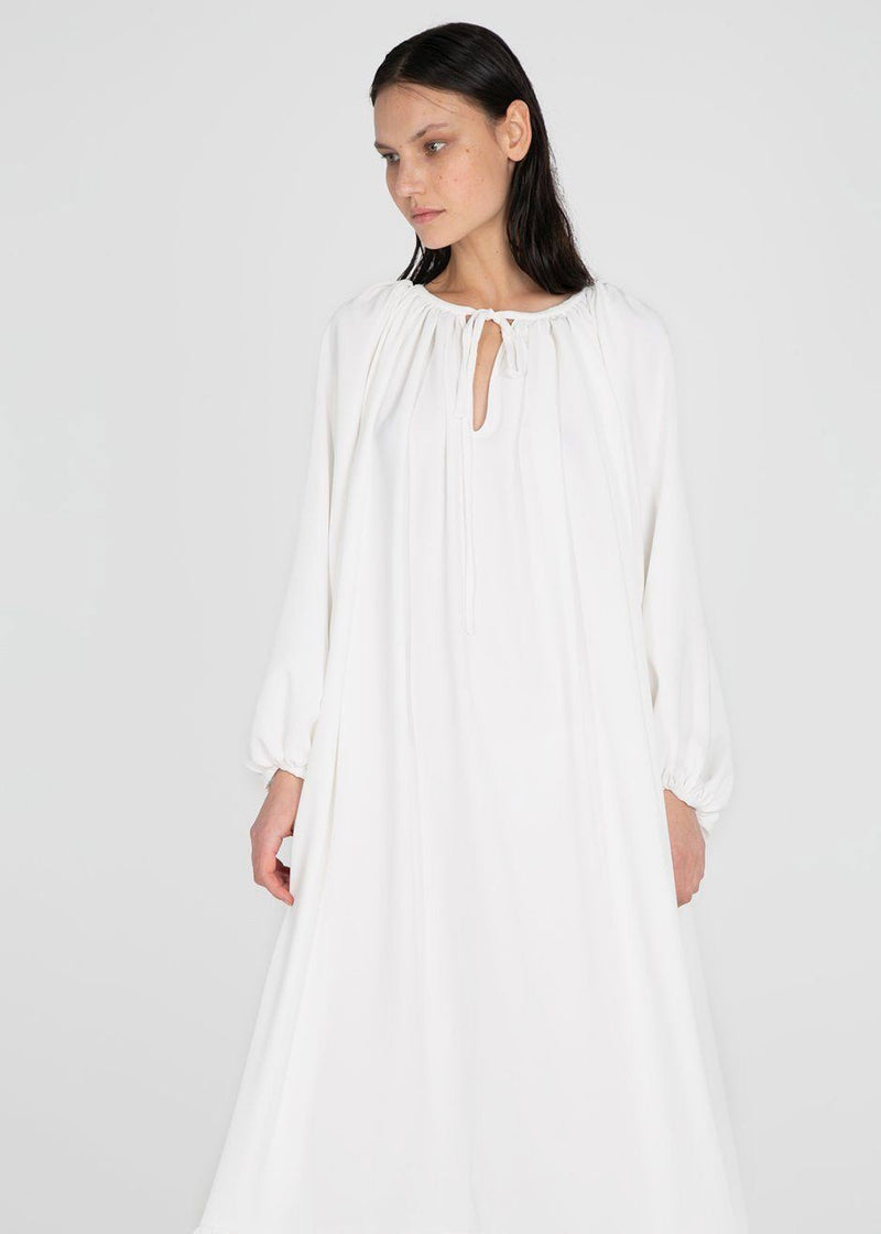 Maxi Poplin Dress by Studio Cut- White Dress Studio Cut