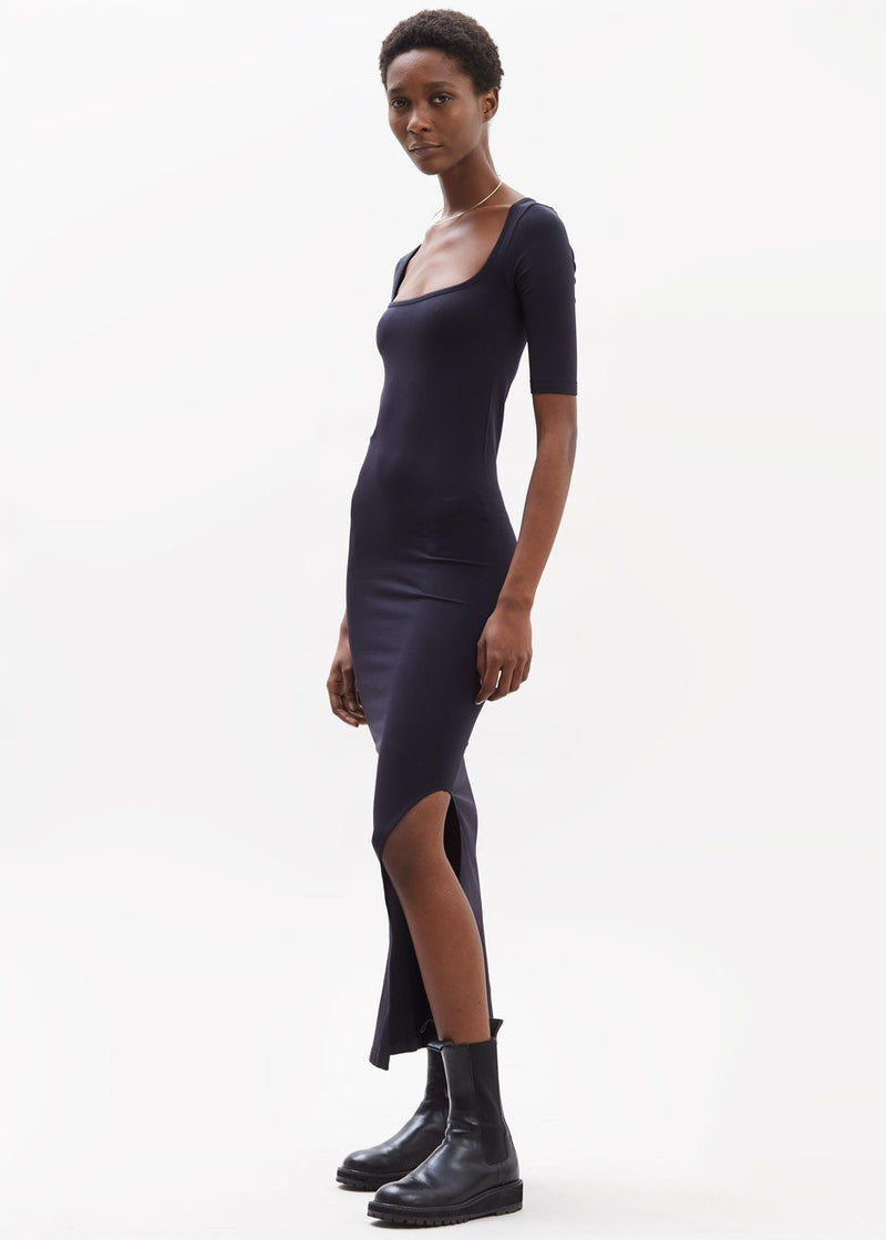 Mies Square Neck Dress by Simon Miller in Black Dress Simon Miller