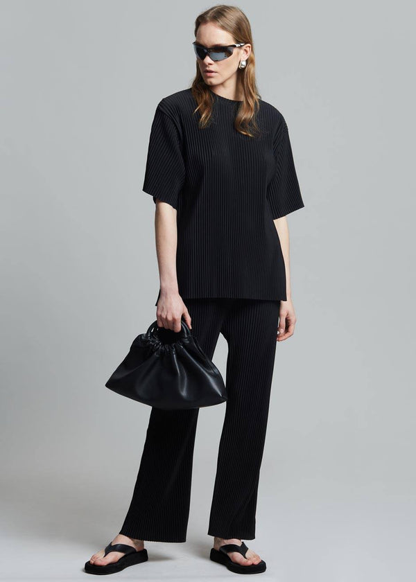 Odile Plissé Pants in Black Pants The Frankie Shop