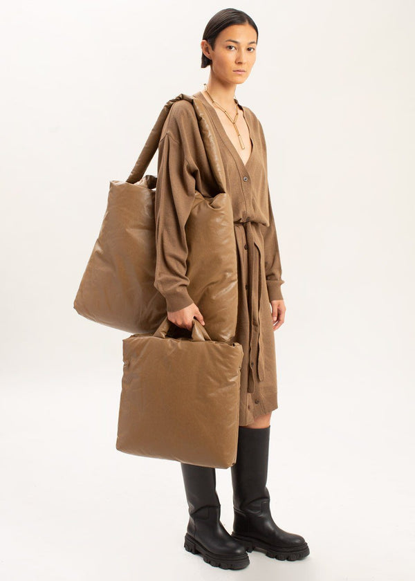 Oil Large Tote Bag by KASSL Editions in Camel Bag KASSL Editions