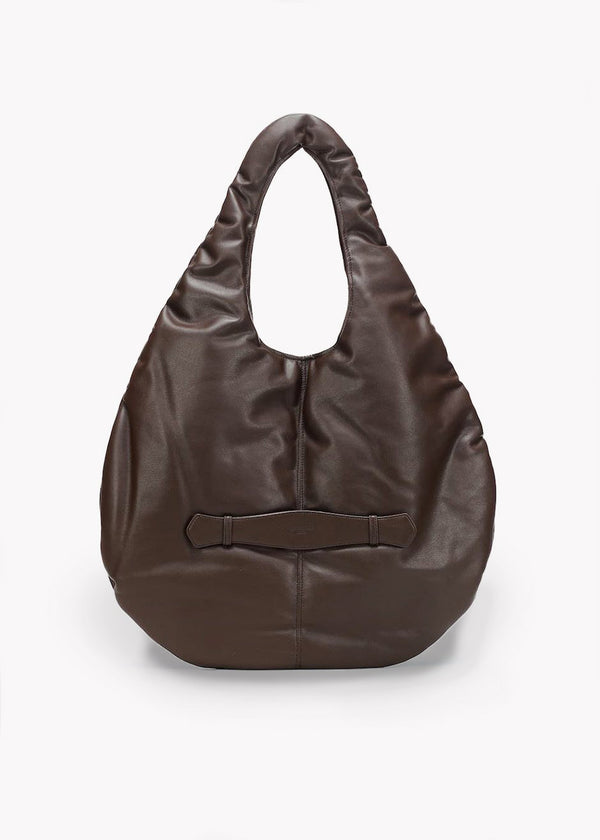 Padding Shoulder Bag by Low Classic in Dark Brown