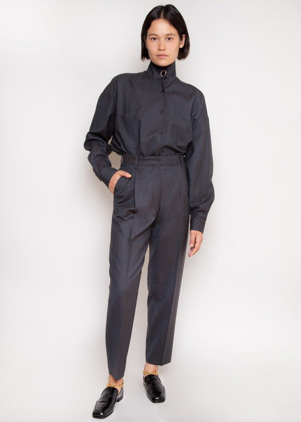 Paris Pants by Remain Birger Christensen in Asphalt Melange Pants Remain
