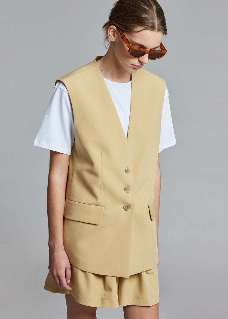 Poppy Long Suit Vest - Sahara Vest Birthday