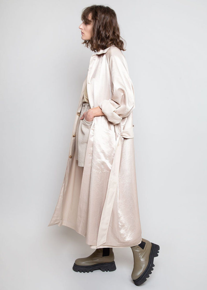 Reversible Silky Trench in Beige Combo trench Gront