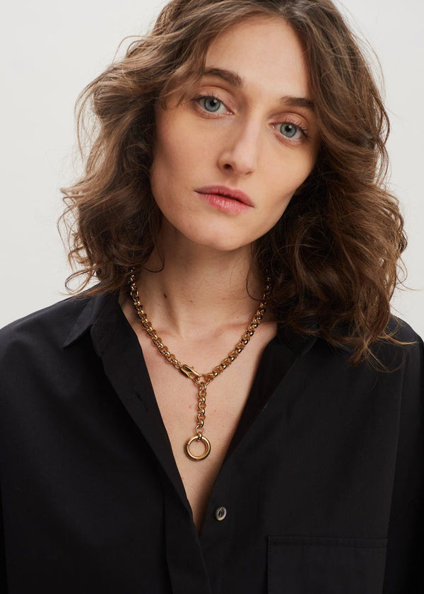 Rina Necklace by Laura Lombardi in Gold Necklace Laura Lombardi