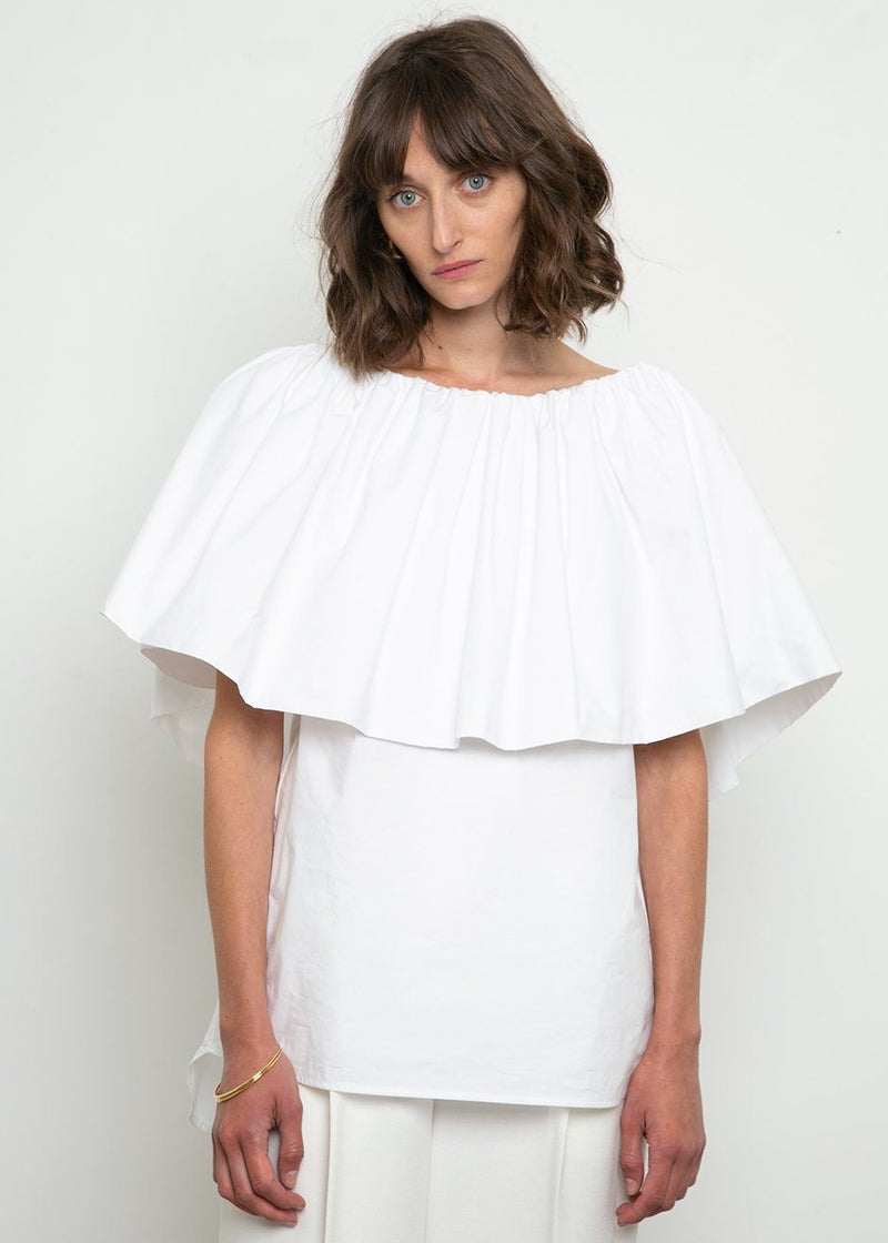 Ruffle Top by Ter et Bantine- White Top Ter et Bantine