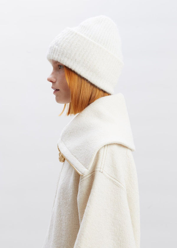 Sendina Beanie by Rodebjer in Chalk White Hat Rodebjer