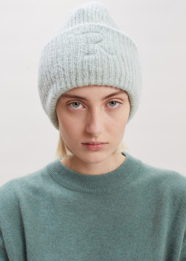 Sendina Beanie by Rodebjer in Dew Green Hat Rodebjer
