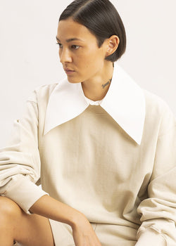 Silk Pointed Collar by Ter et Bantine in Ivory Collar Ter et Bantine