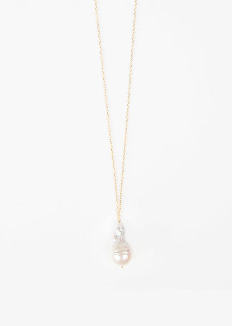 Single Baroque Pearl Thin Chain Necklace by Timeless Pearly Necklace Timeless Pearly