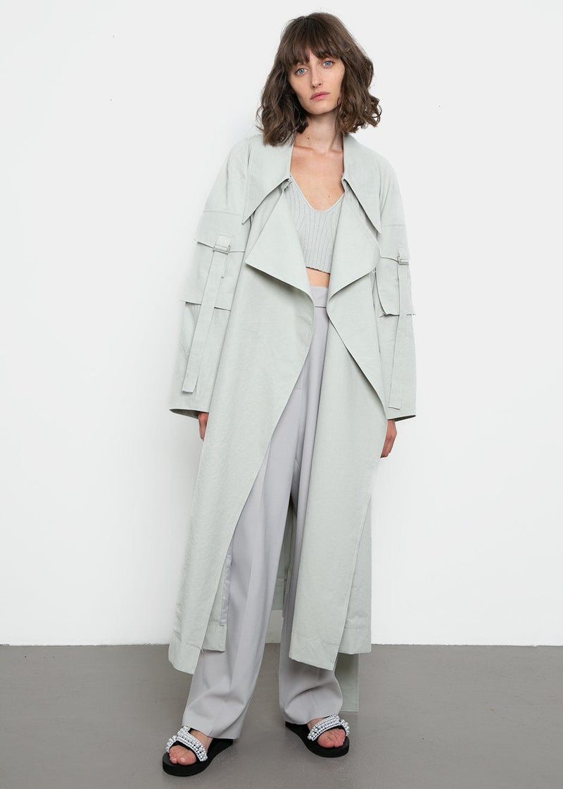 Sleeve Pocket Trenchcoat by Low Classic- Mint trench Low Classic