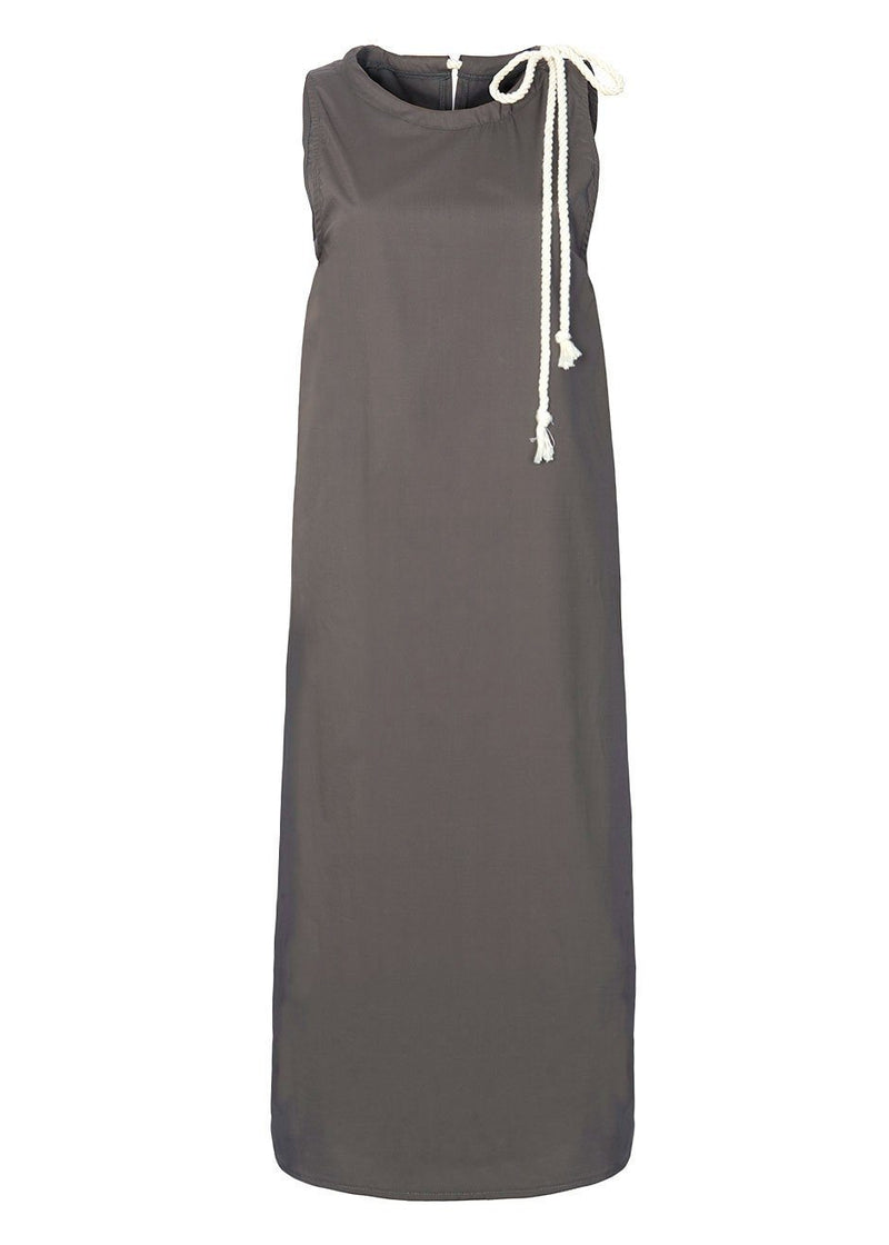 Sleeveless Rope Midi Dress in Mink Grey Dress The Wave