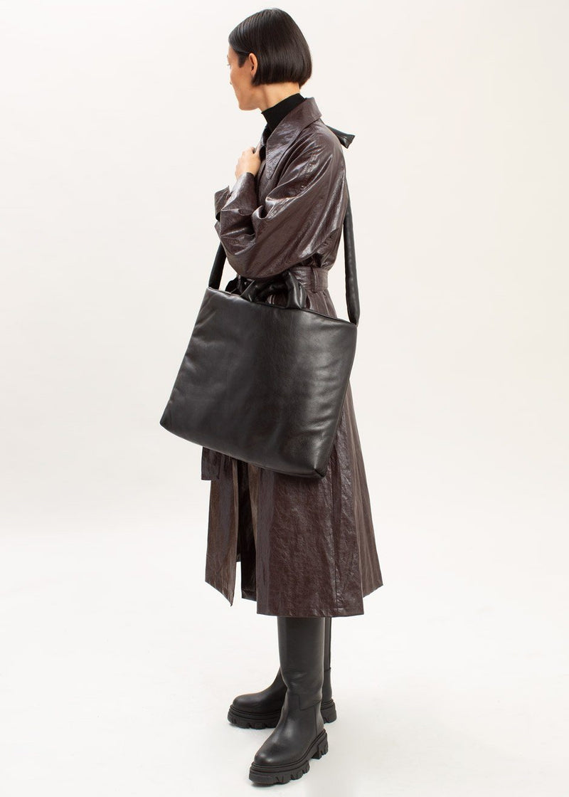 Soft Leather Messenger Bag by KASSL Editions in Black Bag KASSL Editions