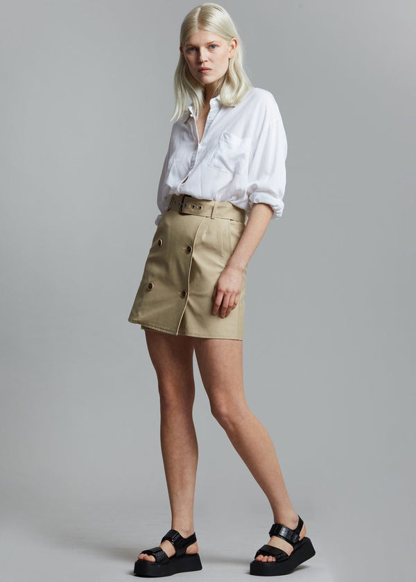 Solene Trench Mini Skirt - Sand Skirt Stage