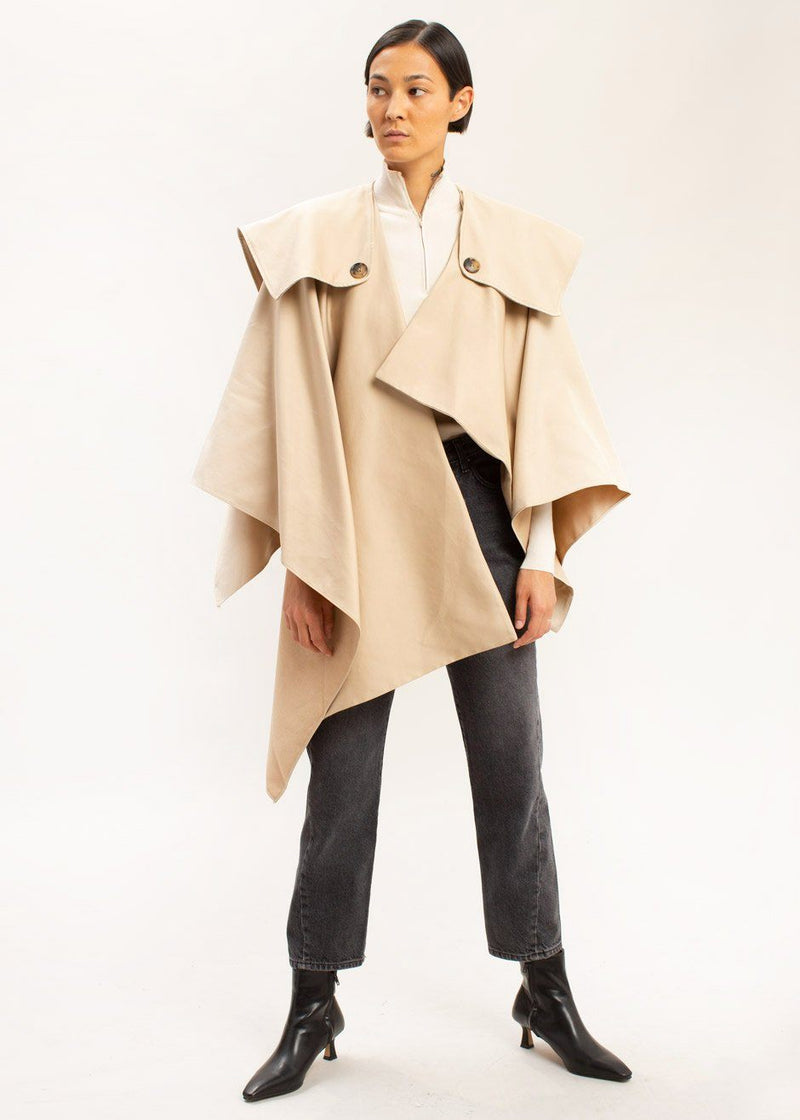 Trench Cape in Biscotti Cape VanNzilL