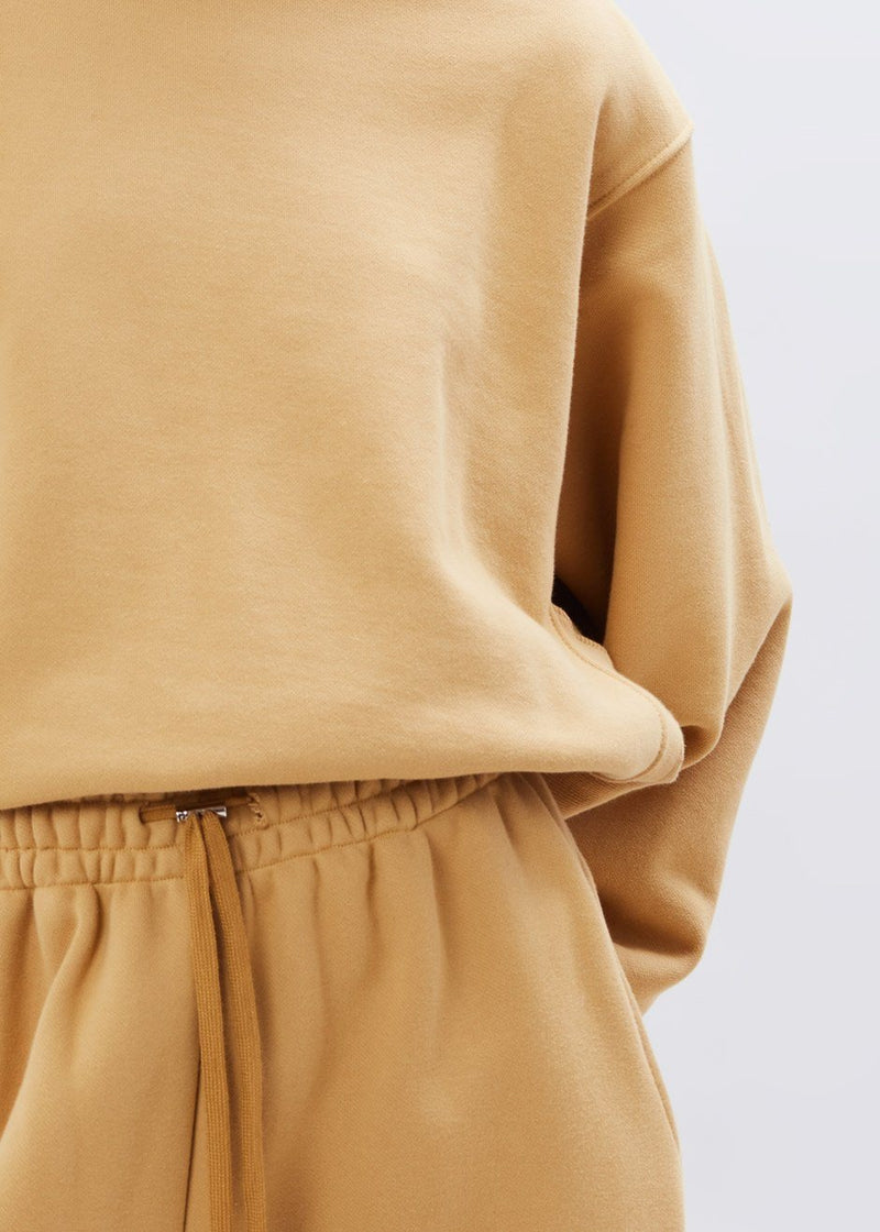Vanessa Padded Shoulder Sweatshirt in Camel Sweatshirt The Frankie Shop