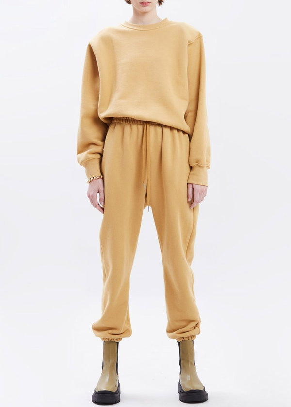 Vanessa Sweatpants in Camel pants The Frankie Shop