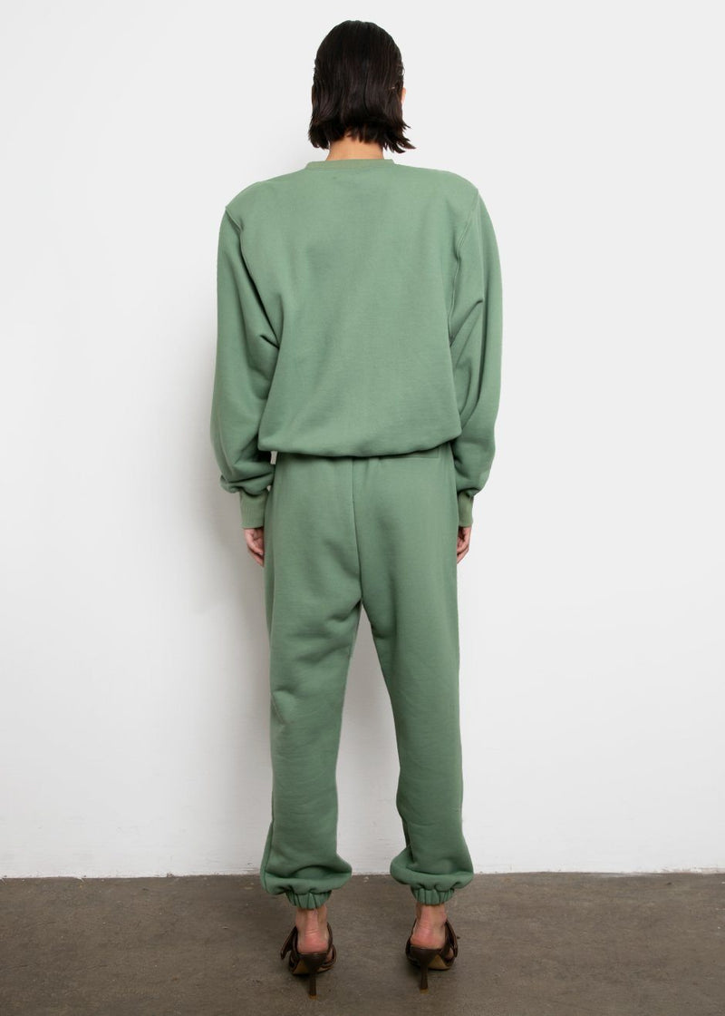 Vanessa Sweatpants in Mossy Green pants The Frankie Shop