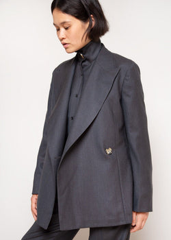Vivienne Blazer by Remain Birger Christensen in Asphalt Melange Blazer Remain