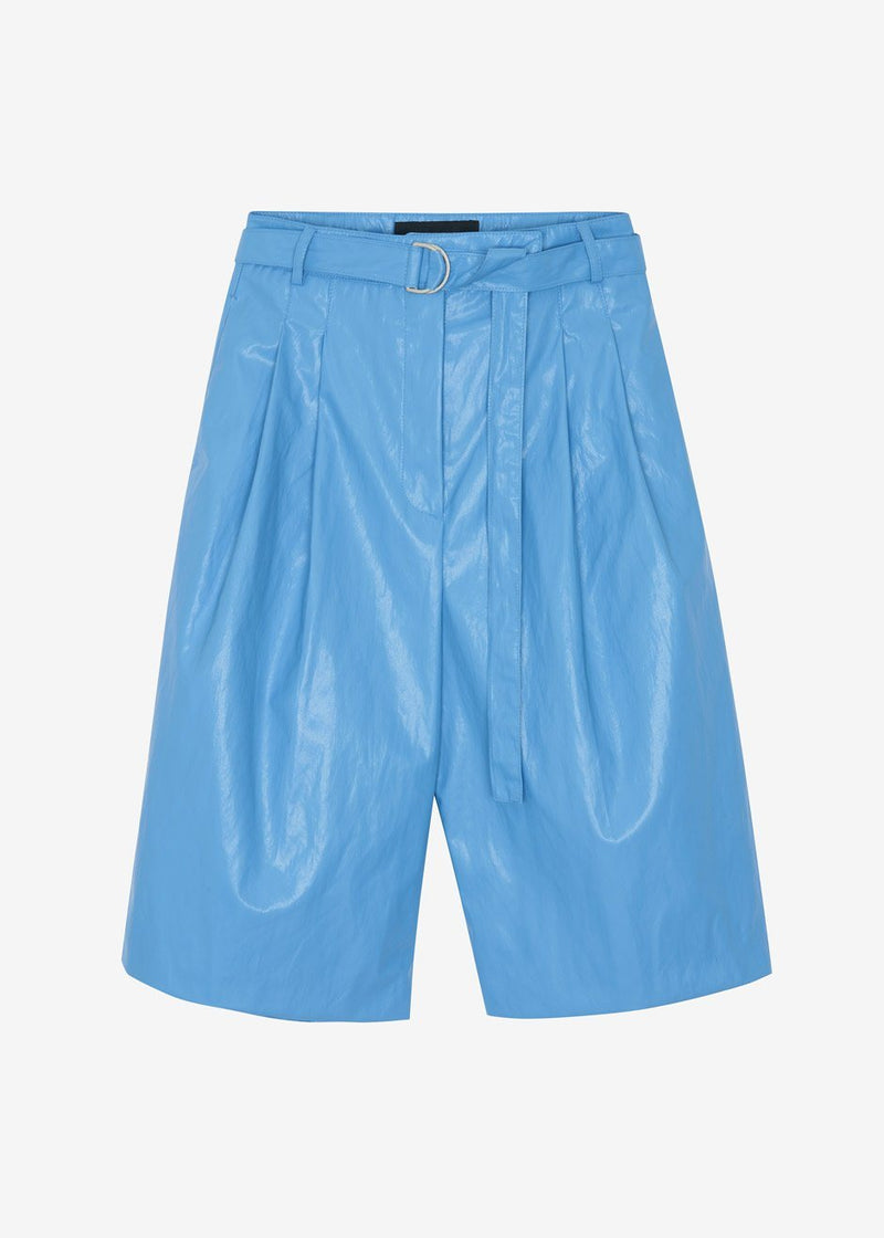Waxed Knee Length Shorts in Cerulean Shorts Stage
