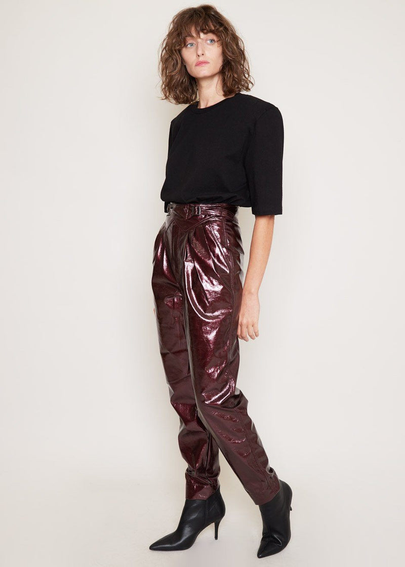 Wilde High Waist Pants by ROTATE in Zinfandel Pants Rotate