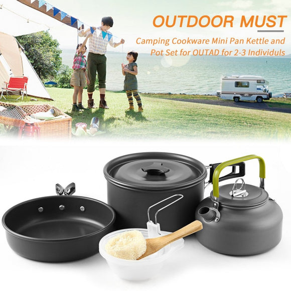 2018 Outdoor Camping Mini Kettle Pot Set