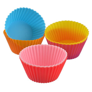 Hoomall 12Pcs Silicone Muffin Cupcake Molds Liner