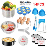 20Pcs Instant Pot Accessories Pressure Cooker Stainless Steel Steamer Basket Set