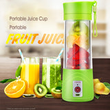 Juicer Cup Fruit Mixing Portable Personal Size Electric Rechargeable Bottle 380ml with USB