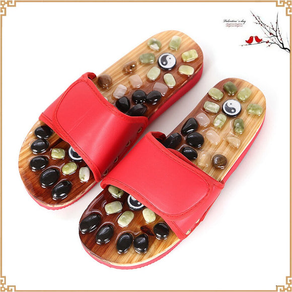 Massage Slippers Sandal Chinese Acupressure Therapy Medical Rotating Foot Massager. Unisex