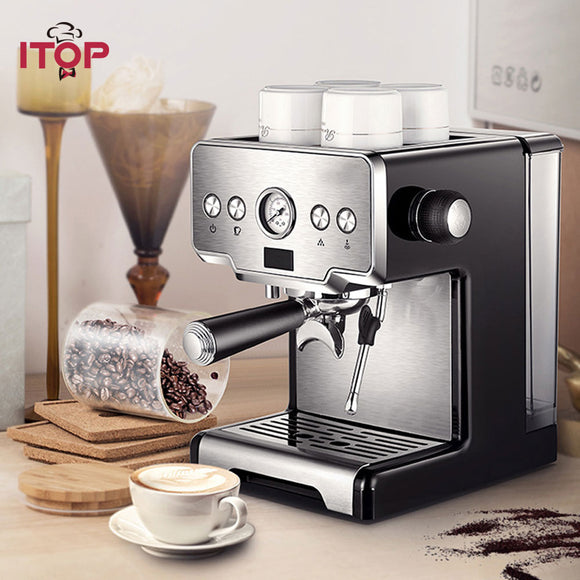 15 Bar Italian Semi-automatic Coffee Maker Cappuccino Milk  Bubble Maker