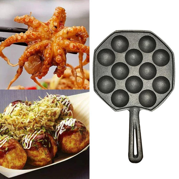 12 Holes Easy To Clean Pan Octopus Baking Maker