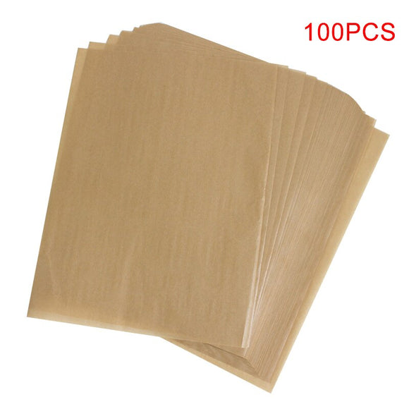 100PCS NEW Reusable Non-Stick Baking Paper High Temperature Resistant Sheet Microwave Oven, Grill, Baking