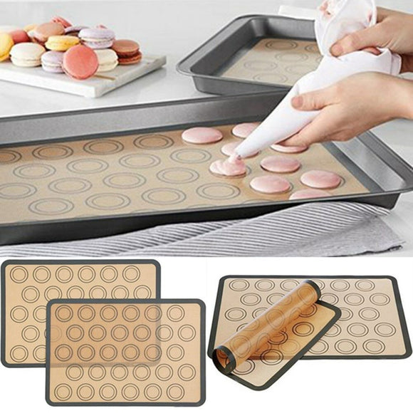 2pcs Home Non-Stick Silicone Baking Mat