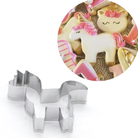 1PC Pastry Baking Mold Unicorn Horse Cutter