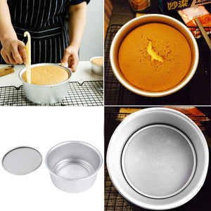 Light and Handy Baking 6 Inch Aluminum Alloy Round Cake Mold