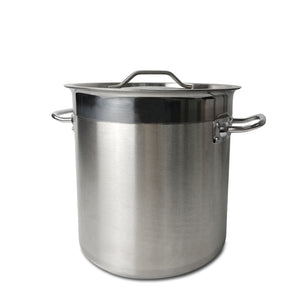 Stainless Steel Deep Stock Pot Catering Pan With Handles and Lid