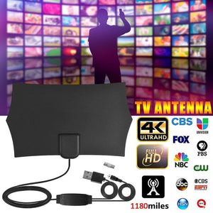 4K Digital HDTV Aerial 1180 Miles Range Amplified Antenna with HD1080P DVB-T2 TV Antenna for Life Local Channels Broadcast