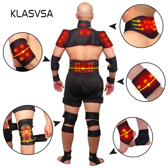 Magnetic Tourmaline Belt Back Neck Lumbar Shoulder Self-heating Therapy Posture Correcter Brace